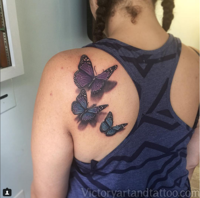 Back Tattoo Butterfly